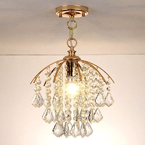 Best wishes shop lampadario- Lampada a sospensione LED oro moderno lampadari in cristallo per corridoio ingresso bar E27