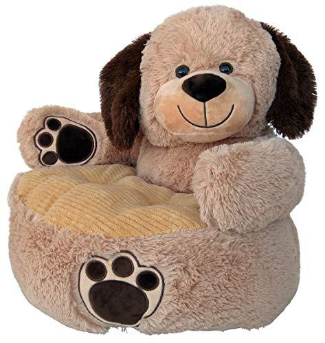 Wagner 8060 - Kindersessel Hund in beige aus Plüsch, ca. 50 cm, Plüschtier Plüsch Hund Sessel Kindersofa Sofa