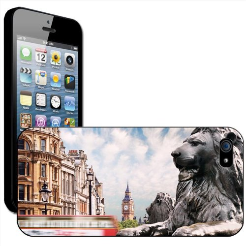 Fancy A Snuggle 'Double Decker Red Bus Big ben' Hard Case Clip On Back Cover für Apple iPhone 5 C Composite Of Famous Landmarks