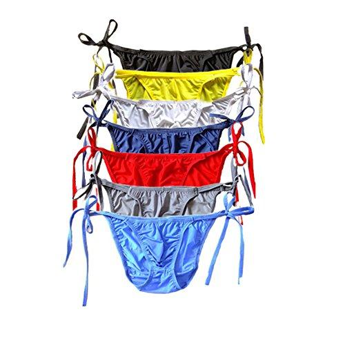 XinGe Herren Slips Thong Tanga Sexy String Unterwäsche Pack of 7