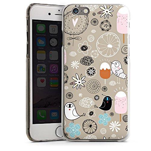 Apple iPhone 4 Housse Étui Silicone Coque Protection Les oiseaux aiment les glaces Glace Glace CasDur transparent