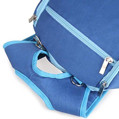 Mama Multifunktions -Rucksäcke Wasserdichte Umhängetasche Wickeltasche Baby Reisen Tasche - Rosa Blau