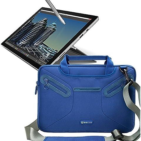 Evecase Funda para Microsoft Surface Pro 3 Bolso Mensajero de Neopreno con Manijas, Correa de Hombro y Bolsillos para accesorios