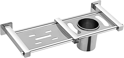Acute (D-34) Soap Dish Stand + Toothbrush Holder, 304 Stainless Steel Grade Material