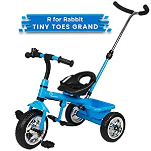 R for Rabbit Tiny Toes Grand Baby/Kids Cycle - Smart Plug & Play Baby Tricycle for Kids/Baby for 1.5 to 5 Years (Blue)