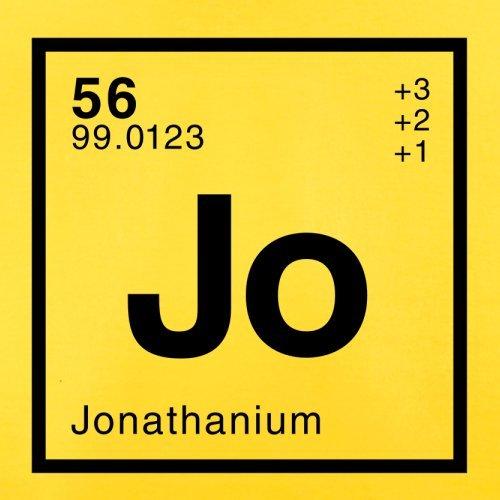 Jonathan Periodensystem - Herren T-Shirt - 13 Farben Gelb