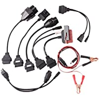 akaufeng 8Cable Juego de cables OBD–II OBD2diagnóstico Adaptador Coche para PSA, AUDI, Benz, BMW, Opel, FIAT