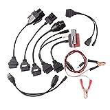 AKAUFENG 8 Kabel Kabelset OBD-II OBD2 Diagnoseadapter PKW für PSA, Audi, BENZ, BMW, OPEL, FIAT
