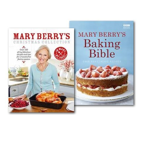 Mary Berry's Christmas Collection 2 Books Set, (Baking Bible & Mary Berry's C...