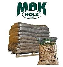 Bancale 25 sacchi da 15 kg ciascuno di Pellet 100% Puro Abete Austriaco MAK Holz GmbH certificato EN PLUS A1 A2 e DIN PLUS.Questo pellet ha delle caratteristiche straordinarie perchè è derivato dalla lavorazione del truciolo vergineproveniente escl...
