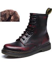2110a8232cf7 uBeauty Damen Martin Stiefel Flache Boots Klassischer Stiefeletten Schnüren  Freizeitschuhe