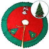 Weihnachtsroter Bedruckter Weihnachtsbaumrock Decke Weihnachten Dekoration für den Baumständer - Perfekt für Christmas Ihre Weihnachtsfeier saisonale Dekorationen & Weihnachtsfeste - 90 cm Durchmesser
