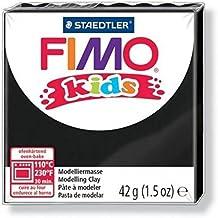 Fimo Kids-Juego de 3 paquetes de pasta para modelar, se endurecen en el horno, 42g, negro