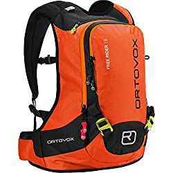 Ortovox Unisex Lawinenrucksack Free Rider, Crazy Orange, 44 x 27 x 20 cm, 18 L, 4676200003