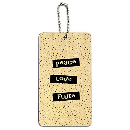 Peace Love Flöte Holz ID-Tag Gepäck-Koffer Handgepäck