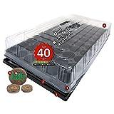 PRO40+ Komplett-Set Zimmer-Gewächshaus Anzuchthaus Hydroponik XL mit Torfquelltöpfen