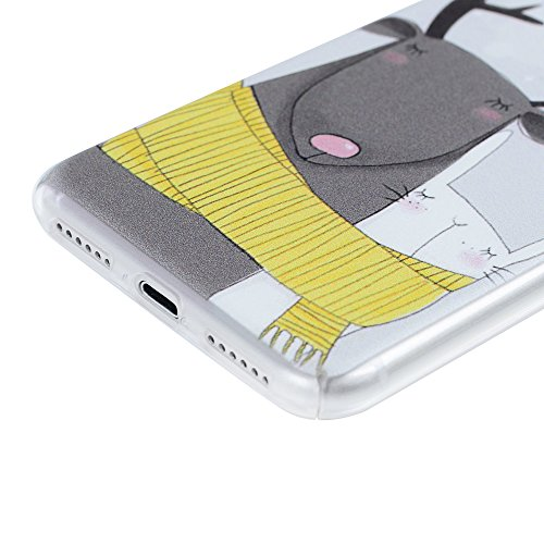 MAXFE.CO PC hülle für iPhone 7 Handyhülle Tasche Back Cover Etui Rück Schutzhülle Harte Kunststoff PC Phone Case Hüllen mit Ein paar Rehe Skin Zurück Drucken Design Ein paar Rehe