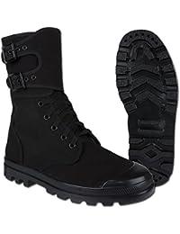 Miltec - Zapatos de Cordones de Otra Piel Para Hombre Negro Negro, Negro (Negro), 43