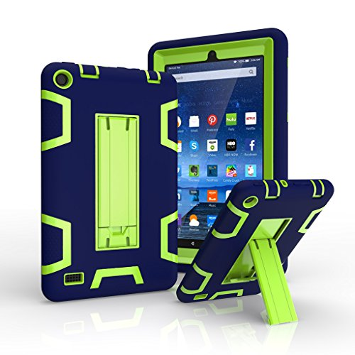 Fire 7 2015 Fall, kingcool Rugged Hybrid Case Full Body Schutzhülle für Amazon Fire 17,8 cm Tablet 5. Generation - Fall 2 Kindle-version
