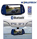 Worldtech 7-inch LED Monitor Screen for Rear View Mirror with Bluetooth USB SD Card