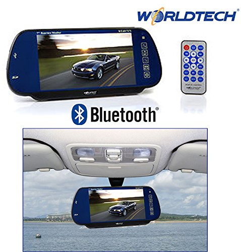 "worldtech 7"" led monitor screen for rear view mirror with bluetooth usb sd card support with remote control Worldtech 7″ LED Monitor Screen for Rear View Mirror with Bluetooth USB SD Card Support with Remote Control 51fpK3zhYfL"