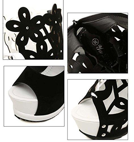 Chaussures À Talons Hauts À Manches Courtes Sandale À Genouillère Femme Chaussures À Talon White