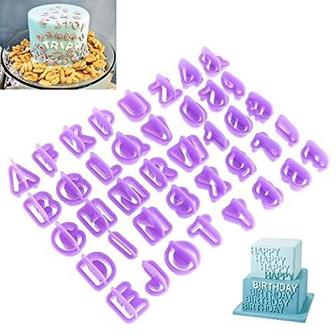 OUNONA 40 Pièce Emporte Piece Lettre Pour Décoration de Biscuit
