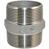 "SuperWhole 2"" Male x 2"" Male Hex Nipple Stainless Steel 304 Threaded Pipe Fitting BSPT Bild 1"