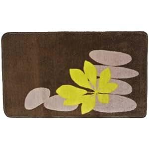 Promobo tapis salle de bain zen colonne galets bambou for Colonne de salle de bain couleur wenge