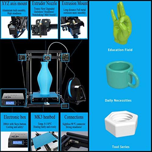 TRONXY X3A Automatische Nivellierung Großer 3D-Drucker Upgradest Hochpräzise Aluminiumstruktur Metall MK8 Düse DIY Kit 2004A LCD Bildschirm Druckgröße: 220 * 220 * 300mm - 2