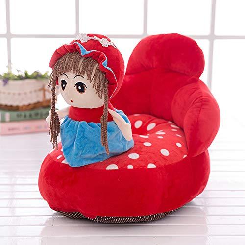 SXFYGYQ Kindersitz Rückenstütze Sicherheitskissen Cartoon Mädchen Weiche Bequeme Plüsch Sofa Baby Lernsitz,A,60X50X45CM