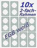 10 Stück (!!) 2-fach Abdeckrahmen weiß mit Clips VIKO für EGB-Elegant Schalter und Steckdosen 080205x10 Profi-Pack