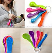 CPEX 5PCS multicolour measuring spoons for cooking and baking