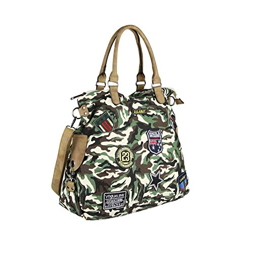 OBC Only-Beautiful-Couture, Borsa a spalla donna rosso Rot ca.: 47x40x19 (BxHxT) Army-Beige