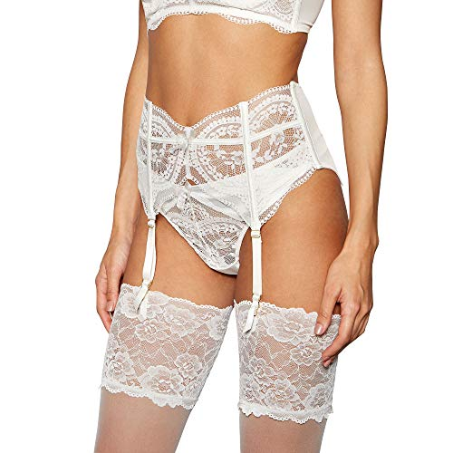 83fa297d6 Reger by Janet Reger Womens Ivory Pearlised Lace Suspender Belt 10