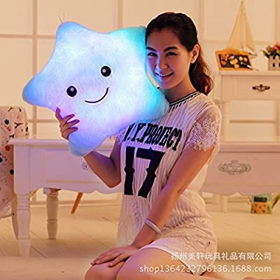 Vktech® Dream Colorful Glow LED Luminous Light Pillow Cushion Cosy Soft Relax Gift (Star II) - cheap UK cushion store.