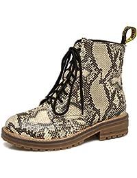 ZHZNVX HSXZ Zapatos de Mujer Otoño Invierno PU Confort Novedad Botas Botas de Combate nulo Plano