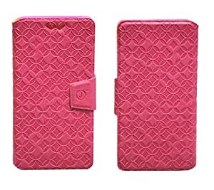 J Cover Vachetta Series Leather Pouch Flip Case With Silicon Holder For Asus PadFone S Pink