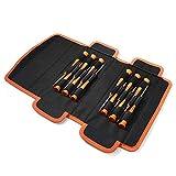 Schraubendreher Set, TACKLIFE 12 Pcs Mini Schraubendreher-Set, Micro Schraubendrehersatz für Uhr, Brille, Modellbau, Handy, PC, Laptop (Philips, Slot, Torx Star, Magnetic Tips) -HSS2B