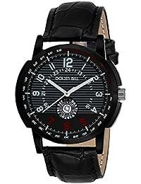 Golden Bell Original Black Dial Black Strap Analog Wrist Watch For Men - GB-878