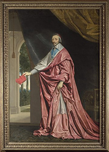 Das Museum Outlet–Philippe de Champaigne–Cardinal de Richelieu, gespannte Leinwand Galerie verpackt. 50,8x 71,1cm