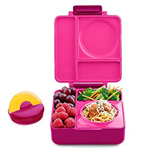Omielife Omiebox Insulated Hot & Cold Bento Lunch Box, Pink Berry