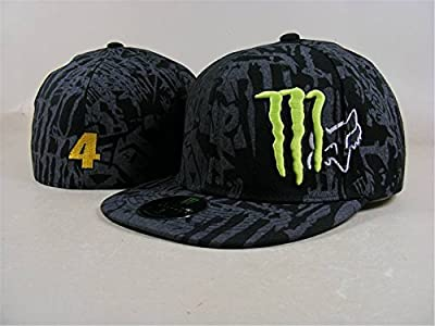 2016 NEW Unisex Monster Energy Hip-Hop einstellbar Baseball Kappen (schwarz, 20)