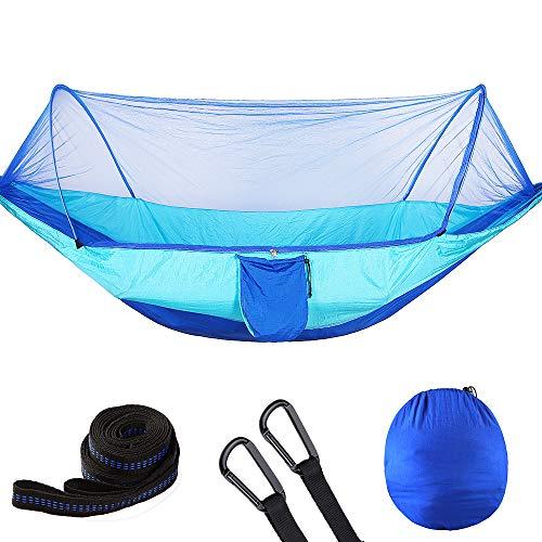 ZHYY Camping hamac avec moustiquaire léger Portable Double Parachute hamacs 210T Nylon résistant aux moustiques résistant à la déchirure -Hammock Camping, Relaxation arrière-Cour
