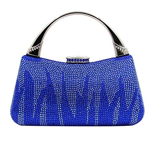 Frauen-Abend-Beutel-hochwertige Diamanthandtasche Blue