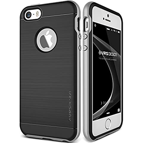 Funda iPhone SE, VRS Design [High Pro Shield][Plata] - [Shock- Absorción case][Resistente a los arañazos cover][protección] - Para Apple iPhone 5/5S/SE