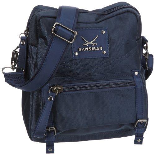 Sansibar Twister Ltd. Edition B-960 TL 03, Borsa a tracolla donna, 23 x 28 x 11 cm (L x A x P) Blu (Blau (navy))