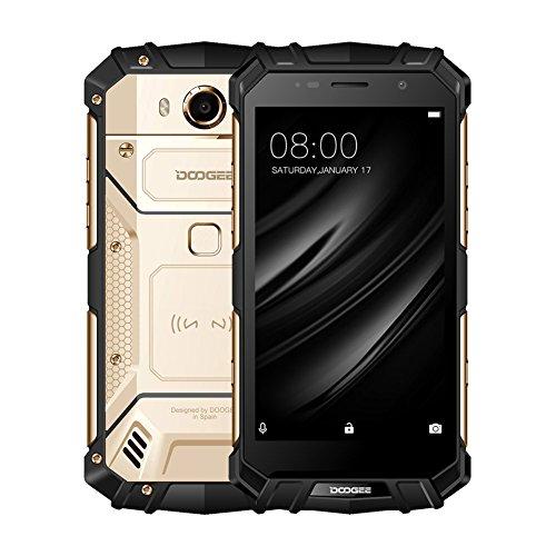 DOOGEE S60 Smartphone Android 7.0 Dual Kamera IP68 Wasserdichter Outdoor Handy 5580mAh 12V2A Schnellladung 5.2''FHD Helio P25 Durch Jannyshop (Golden)