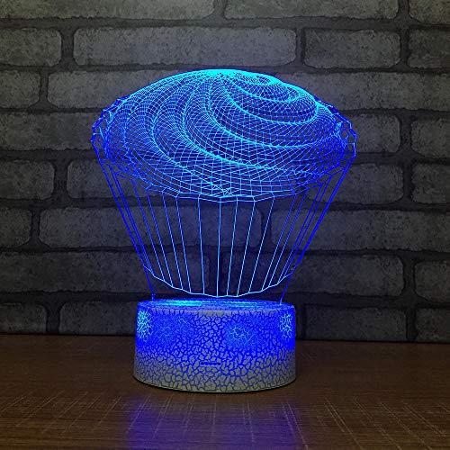 3D Lampe Optische Led Täuschung Nachtlicht Kuchen Form 7 Farbwech Mit Acryl Flat & Abs Base & Usb-Ladegerät Ändern Berühren Schreibtisch Lampe Tischleuchte
