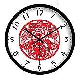 XcjJJ-Orologio silenzioso classico cinese / orologio al quarzo cinese / orologio da parete cinese di arte di moda,C,12 pollici